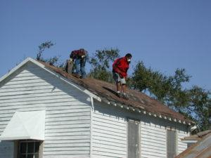 DO I NEED TO BE HOME WHILE ROOF WORK IS PROCEEDING?